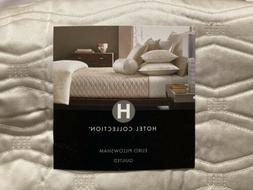 2  Hotel Collection Woven Texture Quilted EURO Pillow Shams-