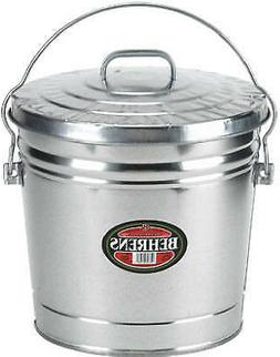 6106 6-Gallon Galvanized  Garbage Pail With Cover