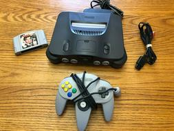 Nintendo 64 N64 Game Console System w/ Controller and 007 Go