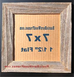 """7x7"""" F barnwood primitive rustic barn recycled picture frame"""