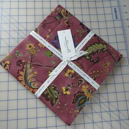 """Amethyst Isle Floral 10"""" x 10"""" Layer Cake Cotton Squares By"""