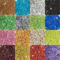 Colorful Square Stained Glass Supplies DIY Glass Mosaic Tile