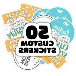 Custom stickers and Decals Set of 50 Product Labels, Busines