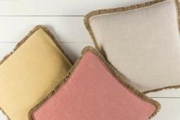 """Surya Ellery 18"""" x 18"""" Coral Pink Medium Square Pillow Cover"""
