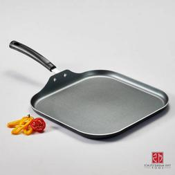 Gray Aluminum Square Griddle 11 in. Non-Stick Steel Durable