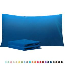 King Size Pillowcases Ultra Soft 1800 Thread Count Two Pillo