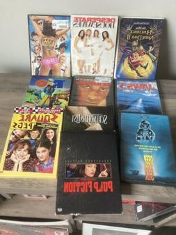 Lot Of 10 Dvds Movies Tv Pulp Fiction Rio Jaws Schindlers Li
