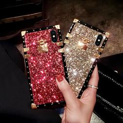Luxury Bling Glitter Square Case Cover for Samsung Galaxy S2