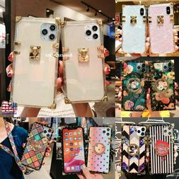 Luxury Crystal Clear Square Trunk Case for iPhone 12 11 Pro