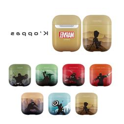 Official Disney Marvel Silhouette Solid AirPods Case Cover 1