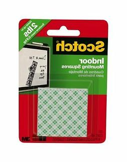 Scotch Indoor Mounting Tape, Holds up to 6 pounds, 1x1 inch,