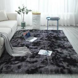 Shaggy Fluffy Area Rug Anti-Skid Living Room Large Carpet Be