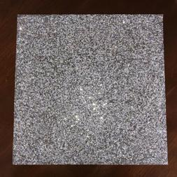 Sparkle Home Luminous Collection SQUARE SILVER PLACEMATS Rhi