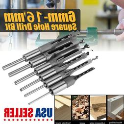 Square Hole Saw Auger Mortise Drill Bit Set Mortising Chisel