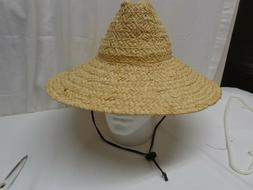 The Scala Collection Womens Med Natural Fiber Straw w Leathe